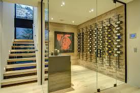 wall mounted wine glass rack wine cellar modern with basement built in storage glass enclosure minimalist bespoke wall storage