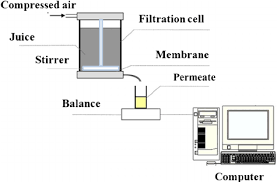 fig   schematic diagram of dead end filtration   scientific    fig   schematic diagram of dead end filtration