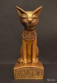 Кошка, скульптура, <b>статуэтка</b>, Ручная работа. Изготавливается в ...