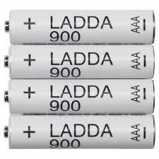 ЛАДДА Аккумуляторная батарейка, HR03 <b>AAA</b> 1,2 В - IKEA