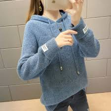 Trendy <b>Loose Outer Pullover</b> Sweater Women's Thick A Feng Shui ...