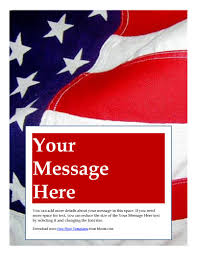 marketing flyer templates in word for any business patriotic american flag flyer