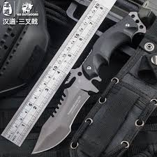 HX <b>OUTDOORS TRIDENT Survival</b> Knife Army Hunting 58HRC ...