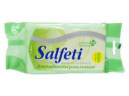 <b>Салфетки влажные антибактериальные</b> 100шт, <b>Salfeti</b>, в ...