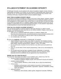 academic honest policysyllabus statement on academic integrity