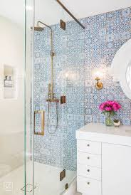 small bathroom clock:  small bathrooms that are big on style