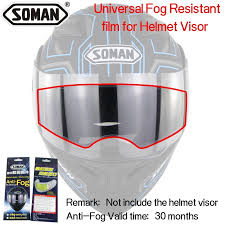 <b>Clear Pinlock Anti-fog patch</b> Motorcycle Full Face Helmet Generic for ...