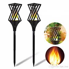 2019 <b>LED Solar Flame</b> Light IP65 Outdoor <b>Waterproof Path</b> Lights ...
