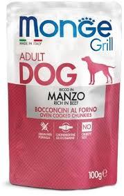 <b>Monge Dog Grill</b> Pouch <b>паучи</b> для собак говядина 100г