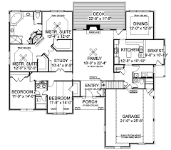 Stovall Park Brick Ranch Home Plan D    House Plans and MoreRanch House Plan First Floor   D    House Plans and More