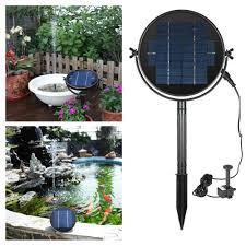 Hot Promo #1f0d - Waterproof <b>Solar</b> Standing <b>Water Fountain</b> 9V 2W ...