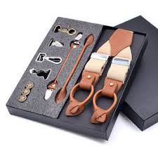 Man's Suspenders Genuine Leather Suspenders Fashion ... - Vova