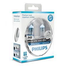 <b>Лампа</b> галогенная <b>PHILIPS</b> H4 <b>White Vision</b> 3700K 12V 60/55W + ...