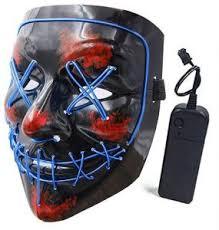 <b>Halloween</b> Mask LED Light up <b>Purge Mask</b> for Festival Cosplay ...