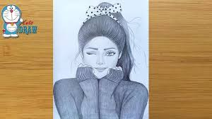 A <b>Cute Girl</b> - Drawing Tutorial / How to draw a girl - Step by step ...