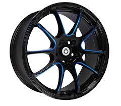 <b>Konig Illusion</b> Gloss Black Wheels with Blue Machined Spokes ...
