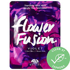 ShopUSAIndia <b>ORIGINS Flower Fusion Violet</b> Nourishing Sheet Mask