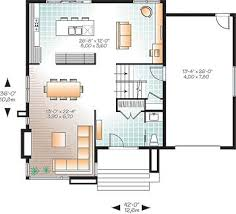 Modern House Plan   Bedrooms and   Baths   Plan First level