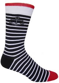 Hello Sailor! Men's Sock in Navy Designed by Lydia Dann #socks ...
