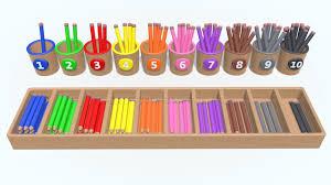 Мультфильмы 3d.Учимся считать от <b>1</b> до 10. Разноцветные ...