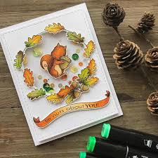 <b>Squirrel</b> Pine Cone Rubber Stamps for Scrapbooking I'm nuts About ...