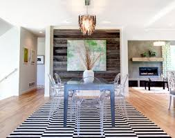 reclaimed wood walls dining room contemporary with abstract art black and chandelier barn board
