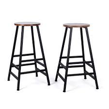 EBTOOLS Bar Stools,<b>2Pcs</b> Breakfast Bar Stool Industrial Style ...