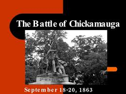 「the Battle of Chickamauga,」の画像検索結果