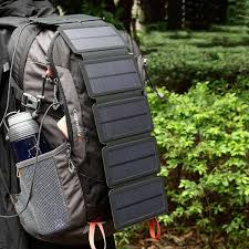 5V/ 2A Outdoor <b>Solar Charging Panel Removable</b> Folding Mobile ...