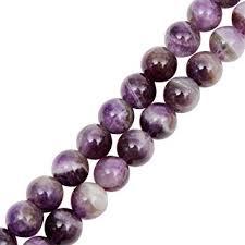 Genuine Natural Stone Beads Amethyst Round Loose ... - Amazon.com