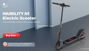 <b>NIUBILITY N1</b> Review - 8.5-inch Wheel <b>Electric Scooter</b> at $269.99