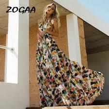 ZOGAA <b>Women Boho</b> Backless Irregular Floral Printed Dress <b>2019</b> ...