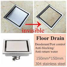 1x <b>2x 304 Stainless Steel</b> Square Invisible Linear Shower Floor ...