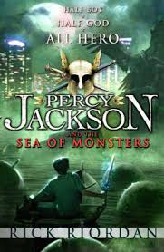 Percy Jackson and the Sea of Monsters book cover