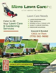 atlanta ga order lawn service from mims lawn care inc yard mowing company in atlanta ga 30307