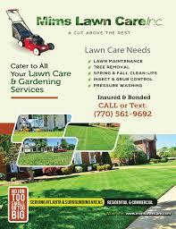 atlanta ga order lawn service from mims lawn care inc yard mowing company in atlanta ga 30307