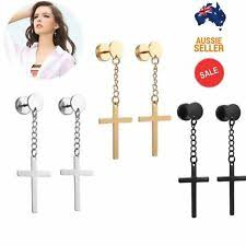 <b>Stainless</b> Steel <b>Fashion</b> Earrings for sale | eBay