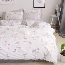 Sweet Pink Stripes Bed Sheets 100% Cotton <b>Flamingo</b> Bedding ...