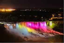 Image result for niagara falls at night