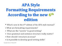 thesis apa  th edition format     Essay Format Apa Citations Essay for you Kolobok ru Essay Format Apa Citations