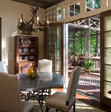 rustic hutch dining room: baroque outdoor rabbit hutch in dining room traditional with benjamin moore iron mountain next to stainless steel dining table alongside rustic