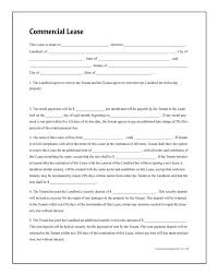 commercial lease forms and instructions