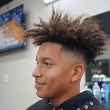 Top 100 hairstyles man <b>summer 2019</b> | <b>Curly high</b> top fade, Long ...