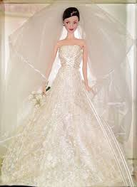 2005 <b>Platinum Carolina Herrera</b> Bride Barbie (2) | Barbie wedding ...
