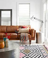 shabby chic furniture boho style furnishing style leather sofa side table ethno silver carpet bohemian style furniture