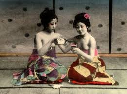 Image result for drinking sake paintings