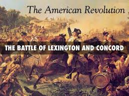 「On April 19, 1775, the American Revolution begins after British troops march into Lexington, near Boston,」の画像検索結果