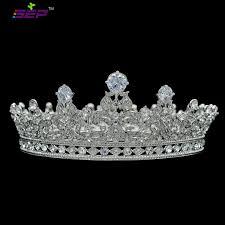 <b>High Quality</b> Full Round Crown Flower Queen Tiaras Headbands ...