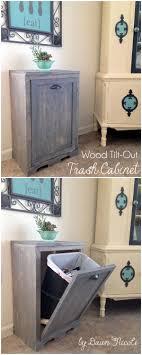 wooden kitchen trash cans unique