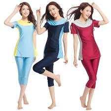 Buy Women's 2Pcs Swimsuits High <b>Elastic</b> Short Sleeve Color Block ...